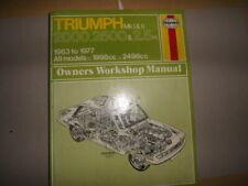 TRIUMPH 2000, 2500, 2.5PI  HAYNES WORKSHOP MANUAL