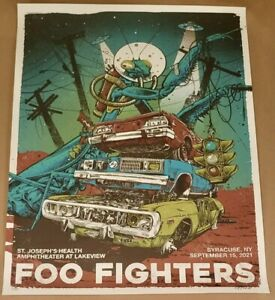 Foo Fighters Poster Syracuse NY 2021 Signed And Numbered By Artist