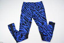 Nike Running Dri Fit Animal Print See Through Yoga Pants Tights Blue Mesh Small