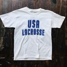 Usa Lacrosse White Short-Sleeve T-Shirt Youth Medium New Nwt