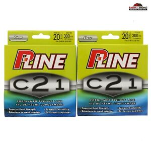 (2) P-Line Copolymer Fishing Line 20lb 300yds Clear ~ NEW