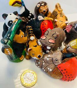 Ceramic Miniature Safari Animals - Mix & Match - Hand Made and Hand Painted