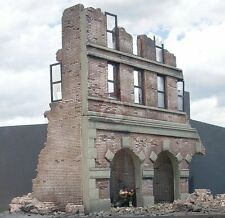 Dioramas Plus 1/35 Factory Ruins 3-Story Ruined Brick Building Front Section DP5