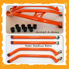 EXTREME CLEARANCE CHROMOLY ARCHED A-ARMS + REAR RADIUS BARS, RZR 4 XP 900 ORANGE
