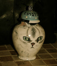 Custom Small Pet urn 4 white Cat ashes Pets Cats persian long hair Or All breeds
