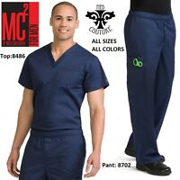New MC2 for Men by Med Couture Scrub Sets ( Top:8486 / Pant:8702) All colors!!!