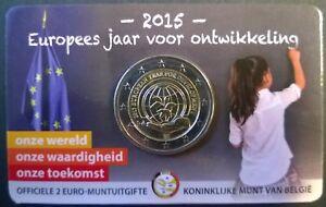 Coincard 2 euro België 2015 Europees jaar voor ontwikkeling Vlaamse voorzijde