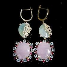 Handmade Natural Sapphire 925 Sterling Silver Earrings /E36215