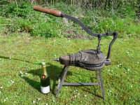 ANTIQUE FRENCH, LARGE CRANK TYPE BELLOWS, FIREPLACE BELLOWS, BLACKSMITH BELLOWS