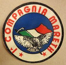 """Toppa/Patch pvc """"1^ COMPAGNIA MARETH - 107° CORSO AUC - CESANO"""" - Rara anni '80"""