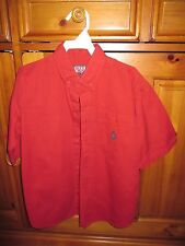 Boys, L, 7, Bugle Boy, Red Short Sleeve Button Down Spring/Summer Shirt, Nice!!