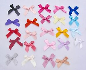 10MM SATIN BOWS GOOD QUALITY ( SEWING, CARDS, CAKES, KNITTING)