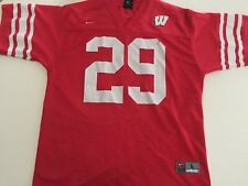 Wisconsin Badgers Red Football Jersey by Nike  29 Youth Large L 362e13efa