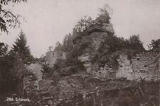 SCHONECK RUINES  ALLEMAGNE DEUTSCHLAND 1895 CABINET KUNSTVERLAG LAUTZ DARMSTADT
