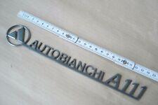 AUTOBIANCHI A111 VINTAGE STEEL METAL FRIEZE EMBLEM LOGO CREST STEMMA FREGIO CAR