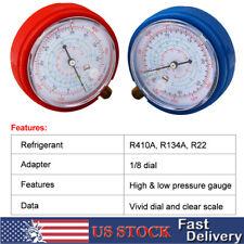 Pair Refrigerant Low & High Pressure Gauges R134A R410A R22 Gauges Low Pressure