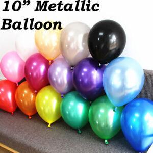 "100PCS HELIUM 10"" Pearlised Latex Balloons Wedding CHRISTENING Birthday Party"