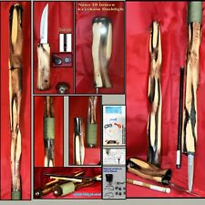 SURVIVAL TACTICAL SAFETY WALKING HIKING STICK CANE STAFF CAMP TOOL HAND CARVED