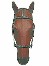 Paso Fino Show Headstall Double stitched w/Turquoise Thread and S.S. Hardware