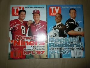 TV GUIDE - 1997 NFL Preview San Francisco 49ers & Oakland Raiders Covers
