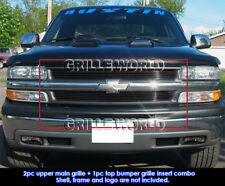 For 1999-2002 Chevy Silverado 1500/ 2000-2006 Tahoe Black Billet Grill Pack