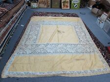 "Vintage Full Queen Size Bedspread Coverlet Filet lace accents 72""x96"" Excellent"