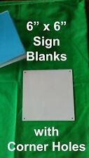 "Aluminum Dye Sublimation Sign Blanks 20 pieces 6""x 6"" with Corner Holes"