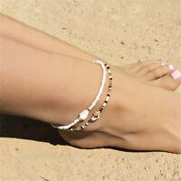 Women Bohemian Sea Shell Bead Anklet Bracelet Sandal Summer Beach Ankle Jewelry