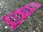 Carpet, Turkish rug, Vintage rug, Handmade rug, Runner, Wool | 2,6 x 8,8 ft