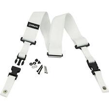 DiMarzio DD2200W 2 Inch Nylon Cliplock Strap White w/Picks (x3) 663334000148
