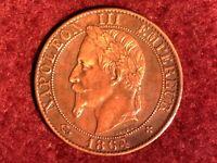 5 CENTIMES 1864 BB (BELLE) Napoléon III tête laurée FRANCE F.117/12 - SUP+++/SPL