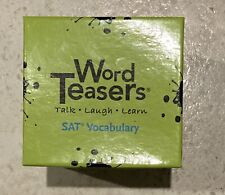 Word Teasers SAT VOCABULARY FLASH CARDS Merriam Webster Quiz Cards NIB