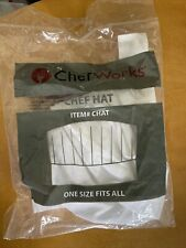 Chef Works Chat White One Size Fit All Kitchen Restaurant Adjustable Chef Hat