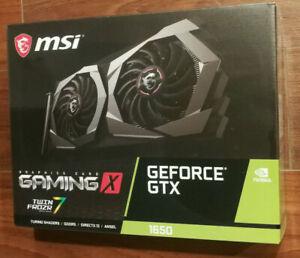 NEW MSI GeForce GTX 1650 GAMING X 4GB 128-Bit GDDR5 G1650GX4 Video Card
