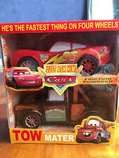 Friction Powered Cars Lightning McQueen Tow Mater Car Toy Kids Gift