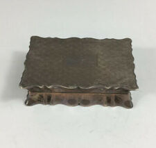Antique 1924 Trevitt & Sons Solid Silver Trinket Box Engine Turned Decoration