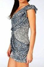 Viscose Animal Print Mini Petite Dresses for Women