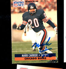 Mark Carrier Chicago Bears hand signed autographed 1991 Pro Set football card!