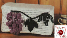 VINTAGE CROCHET PATTERN How to Make a GRAPES TOASTER COVER Fruit DK 16cm Tall