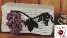 Vintage Crochet Pattern copie à faire un raisin Grille-pain Housse DK 16 cm Tall DK