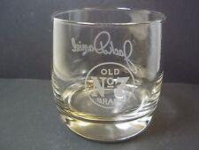 New listing Jack Daniel's round rocks whiskey glass signature on back 8 oz