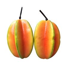 Set of 2 Artificial Fake Fruit Star Apple for Decoration or Display