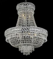 9LT 26x23 FRENCH EMPIRE CRYSTAL CHANDELIER LIGHTING FIXTURE PENDANT CEILING LAMP