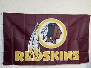 Washington Redskins Wordmark Flag 3X5 FT NFL Banner Polyester FAST SHIPPING!!!