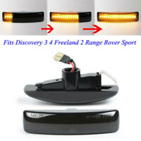 2pc Dynamic Flowing LED Side Marker Repeater Light For Range Rover Discovery 3 4