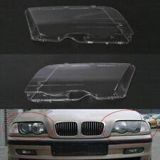 Headlight Lenses Plastic Covers Set for BMW 3 Series E46 98-01 Car New