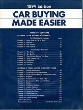 Car Buying Made Easier 1974 Edition Ford Motor Company EX 122815jhe2