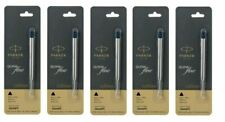 Parker Quink Flow Medium Ball Pen Point Refills, Black Ink - 5 Pack