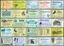 25 alte Gasthaus-Streichholzetiketten aus Deutschland #860