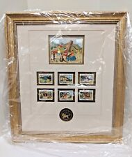 VINTAGE WINNIE THE POOH'S BLUSTERY DAY Framed Limited Edition Stamps Disney NIB